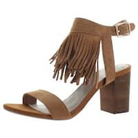 Restricted Kissy Women's Fringe Chunky Heel Sandals