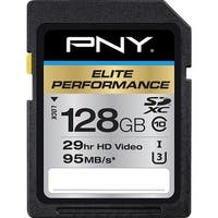 """PNY Technologies P-SDX128U395-GE PNY Elite Performance 128 GB SDXC - Class 10/UHS-I (U3) - 95 MB/s Read"""