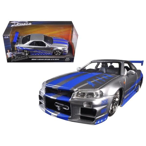 Shop Brian\'s Nissan GTR Skyline R34 Silver/Blue Fast