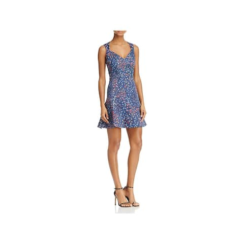 308018853bc French Connection Womens Frances Berry Casual Dress Printed Sleeveless