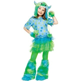 Fun World Monster Miss Child Costume - Blue/Green (2 options available)