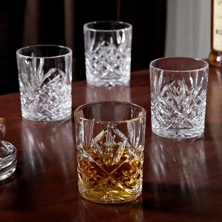 Link to Dublin Cut Crystal Whiskey Glasses, Set of 4 Similar Items in Glasses & Barware