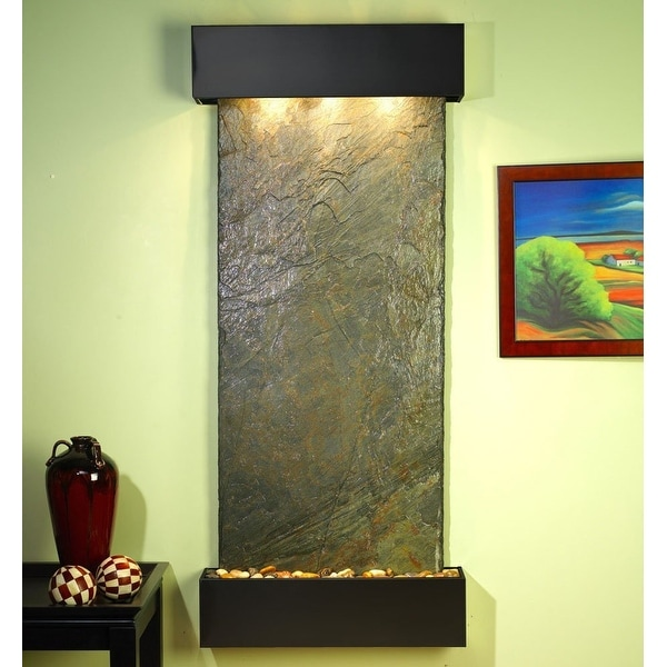 Adagio Inspiration Falls Wall Fountain Green Solid Slate Blackened Copper - IFS1