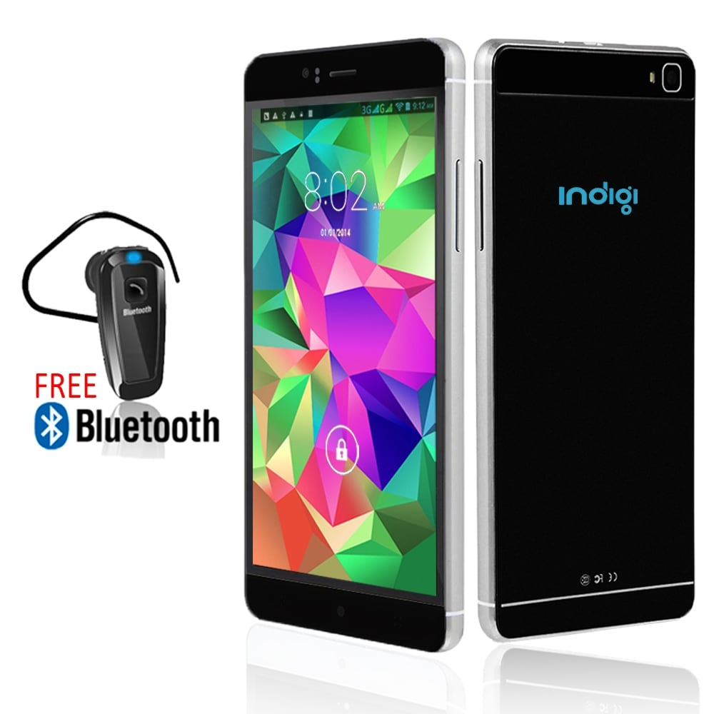 Indigi® M8 Factory Unlocked 3G GSM+WCDMA 6.0inch HD Display Android 5.1 Lollipop Dual-Core 2Sim SmartPhone w/ Bluetooth Included - Thumbnail 0