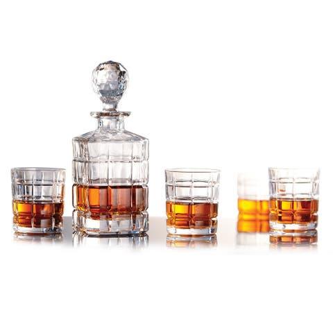"""Whiskey 5PC Set Glass Highland - 4"""" x 4"""" x 10"""""""