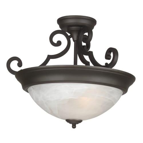 Jeremiah Lighting X224-NRG 3 Light Semi-Flush Ceiling Fixture