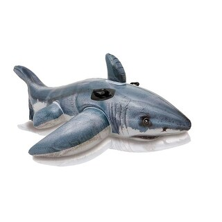 "Intex 57525EP Friendly Shark Ride On Float Pool Toy, 60-1/2"" L x 41"" W"