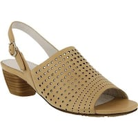 Spring Step Women's Eleanor Perforated Slingback Tan Leather
