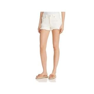 Levi's Womens 501 Denim Shorts Frayed Hem Button Fly
