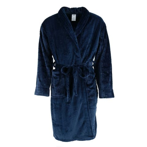 Wanted Men's Cable Shawl Collar Plush Robe