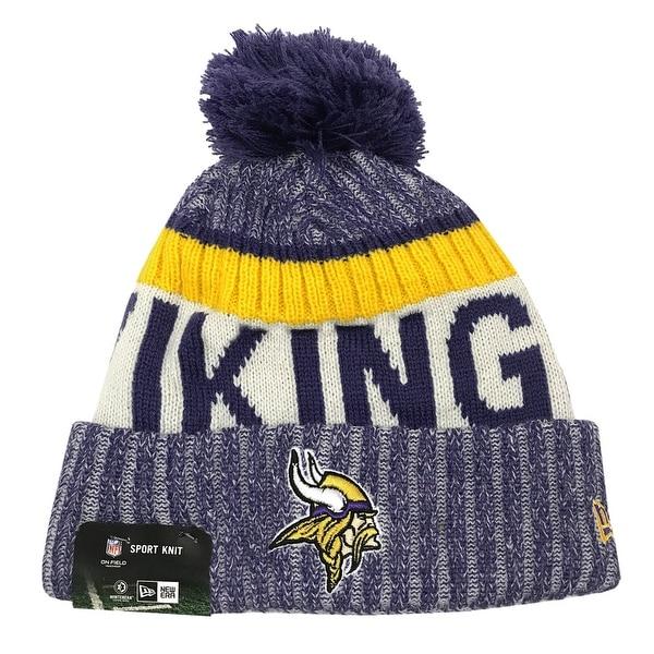 super popular 76f75 411ac Shop New Era Minnesota Vikings Knit Beanie Cap Hat NFL On Field Sideline  11460391 - Free Shipping On Orders Over  45 - Overstock - 17743731