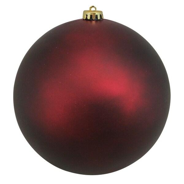 "Burgundy Red Shatterproof Matte Christmas Ball Ornament 8"" (200mm)"