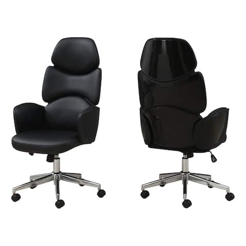 Office Chair - Leather-Look / High Back Executive