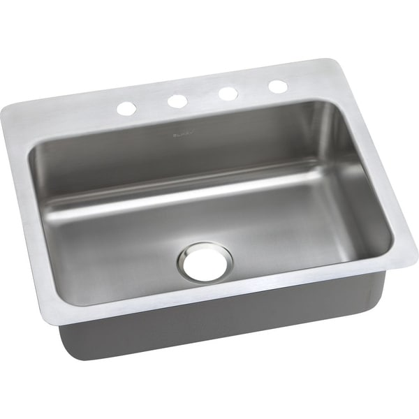 "Elkay DSESR12722 Dayton 27"" Single Basin Drop In Stainless Steel Kitchen Sink - N/A"