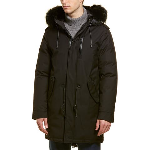 Mackage Moritz Dx Leather-Trim Parka