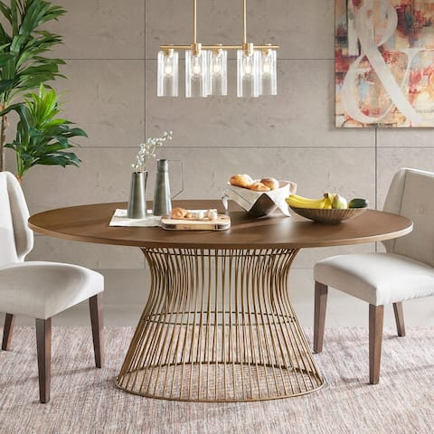 Mercer Bronze Oval Dining Table by INK and IVY