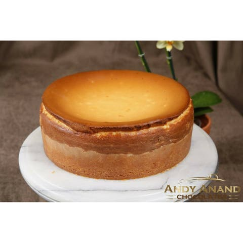 """Andy Anand New York Cheesecake 6"""" (24 Oz) & Greeting Card"""
