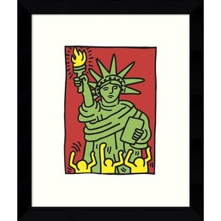 Link to Framed Art Print 'Statue of Liberty, 1986' by Keith Haring 9 x 11-inch Similar Items in Art Prints