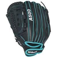 Wilson Siren 11.5 inch Fastpitch Softball Glove (Black/Teal, Left Hand Throw)