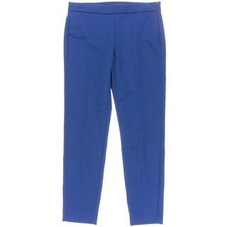 DKNY Womens Flat Front Side Zip Dress Pants