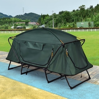 Costway Hiking Outdoor Folding 1 Person Waterproof Elevated Camping Tent w/ Carrying Bag