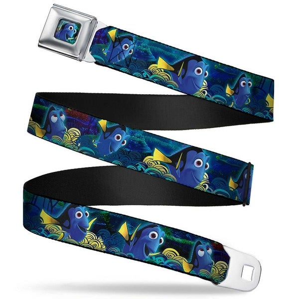 Dory Pose2 Swirls Full Color Blues Yellows Dory Poses Swirls Blues Yellows Seatbelt Belt
