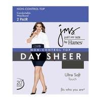 JMS Smooth Finish Regular Reinforced Toe Panty Hose 2 Pair Pack - Size - 3XL - Color - Off Black