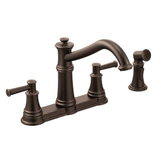 Moen 7255  Belfield High-Arc Double Handle Kitchen Faucet with Side Spray