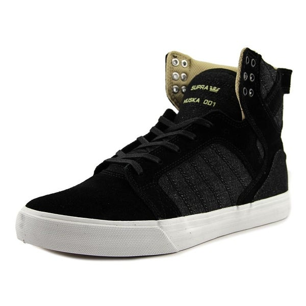 Supra Skytop Men Round Toe Suede Black Skate Shoe