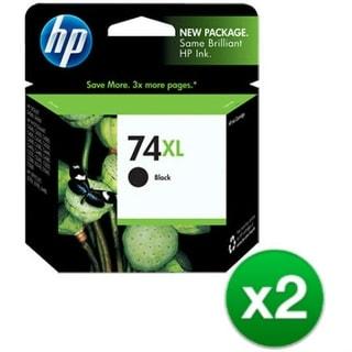 HP 74XL High Yield Black Original Ink Cartridge (2-Pack) HP 74XL Black Ink Cartridge - Black - Inkjet - 750 Page