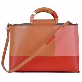 NEW Tory Burch Color Block Leather E/W Convertible Purse Handbag Tote