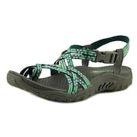 Skechers Reggae-Loopy Women  Open-Toe Canvas Blue Sport Sandal