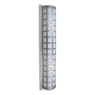 Besa Lighting SCALA40-WA Scala 3 Light Outdoor Wall Sconce with White Acrylic Shade