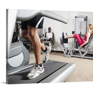 """""""People exercising in health club"""" Canvas Wall Art"""