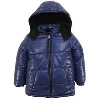 Ixtreme Boys Classic Down Alternative Hooded Winter Puffer Bubble Jacket Coat