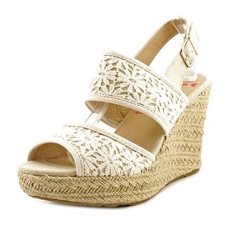 Jellypop Millie Women Open Toe Canvas Wedge Heel