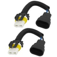 """2 Pcs 9005 Head Light Adapter Socket Connector Female to Male 7.5"""" Length"""