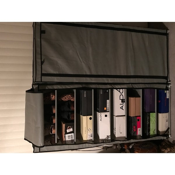 Shop Sunbeam Blue 8 Tier Shoe Closet   Free Shipping On Orders Over $45    Overstock.com   11606588