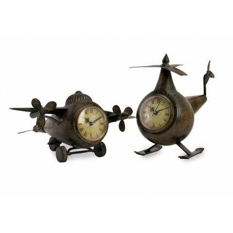 Lighting Business 12708-2 Lindbergh Aviation Clocks - Set of 2