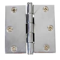 Chrome Solid Brass Cabinet Hinge Coin Tip 3 | Renovator's Supply