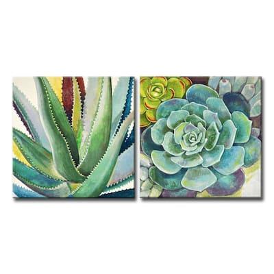 'Brilliant Succulents I/II' Wrapped Canvas Wall Art Set by Norman Wyatt Jr.