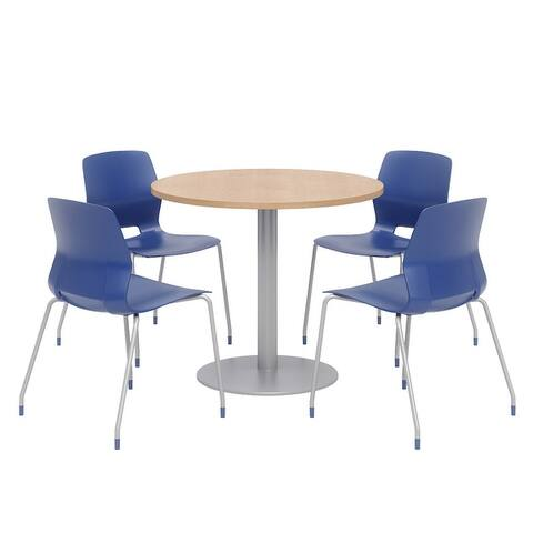 Olio Designs Round Dining Table Set, Lola Chairs, Maple
