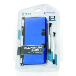 3DS Aluminum Shell with 2 Stylus Blue