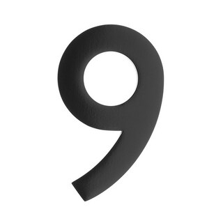 Architectural Mailboxes 3585-9 5 Inch Solid Cast Hand Finished Brass House Numbers - N/A