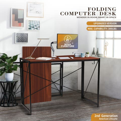 NOVA FURNITURE Folding Home office Computer Desk, Student Learning Writing Laptop Desk/ Table for Kid's Bedroom