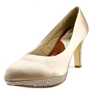 Ros Hommerson Sasha Women N/S Round Toe Canvas Gold Heels