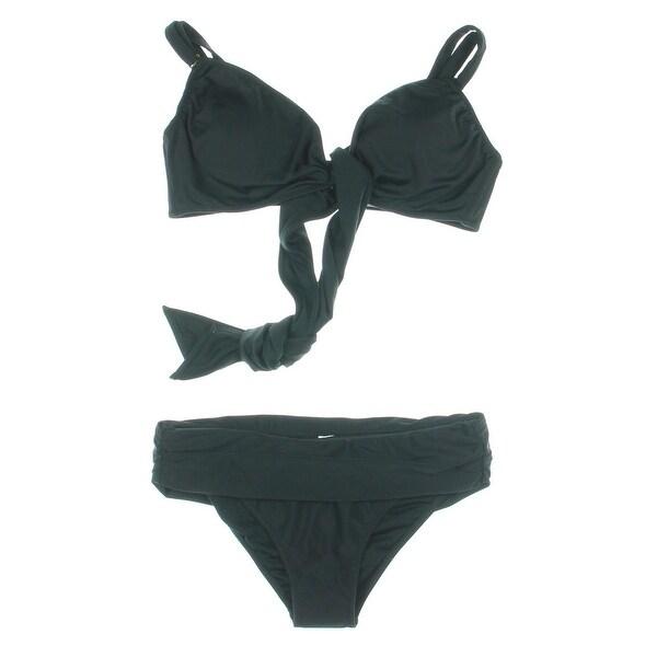 Zeraca Womens Fold-Over Convertible Bikini Swimsuit - S