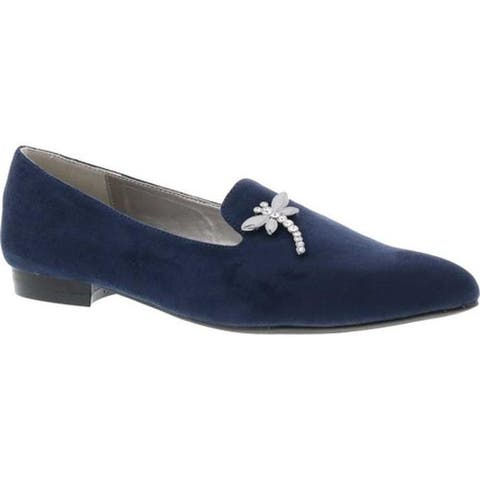 Bellini Women's Dragonfly Flat Loafer Navy Microsuede