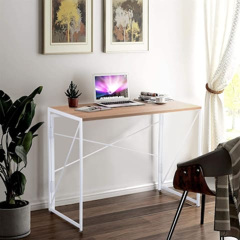 NOVA FURNITURE Folding Home Office Computer Desk, Folding Writing Desk