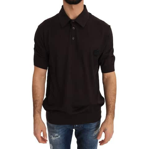 Brown Polo Short Sleeve Men's T-shirt